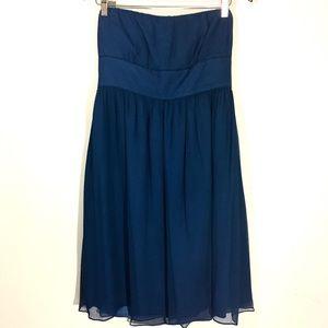 J. CREW Sweetheart Neckline STRAPLESS SILK DRESS
